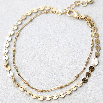 Escape to Sun Gold Anklet