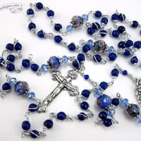 Lapis Lazuli Unbreakable Rosary first communion gift lapis lazuli rosary catholic gift confirmation rosary catholic rosaries blue rosary