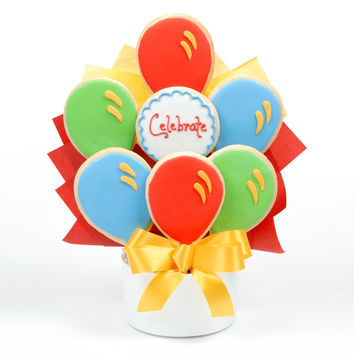Celebrate Balloon Cutout Cookie Bouquet