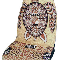 Brown Sea Turtle (Honu) Hawaiian Car Seat Cover