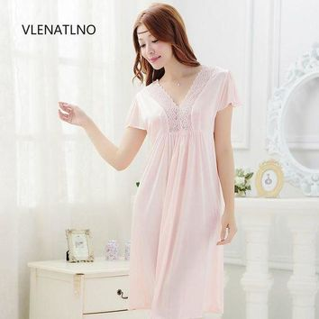 CREYCI7 2015 summer style Noble sexy women's laciness lace royal spaghetti strap viscose long design nightgown