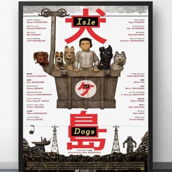Isle of Dogs Wes Anderson 2017 Film Japanaese Movie Wall Art Wall Decor Silk Prints Poster Paintings for Living Room No Frame
