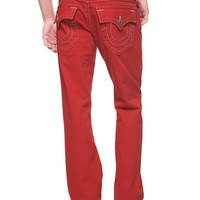 True Religion Hand Picked Straight Mens Jean - Red