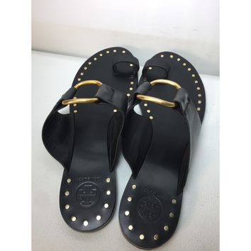 Used Tory Burch Women's Brannan Studded Leather Sandals, Size 9