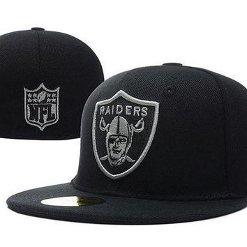 Oakland Raiders New Era 59fifty Nfl Football Hat Black