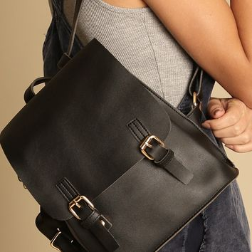 Valencia Faux Leather Backpack | Threadsence