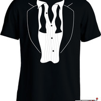 Funny Wedding Shirt Gifts For Groom Tuxedo T Shirt Bachelor Party Groomsman Mens Tee MD-69
