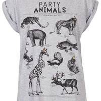 Party Animals Tee By Tee And Cake - Topshop USA