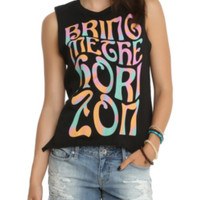 Bring Me The Horizon Tie Dye Letters Muscle Girls Top
