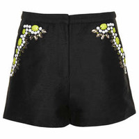 Premium Tropical Shorts - Black