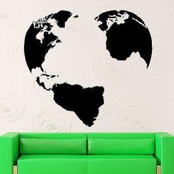 Wall Sticker Vinyl Decal Earth Peace World Love Pacifism Map Decor Unique Gift (ig1986)