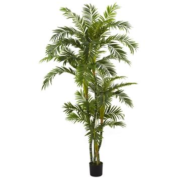 SheilaShrubs.com: 6' Curvy Parlor Palm Silk Tree 5348 by Nearly Natural : Indoor Garden Decor Silk Trees & Plants