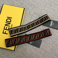 """Fendi"" Women Fashion Retro Multicolor Stripe F Letter Headband Headkerchief"