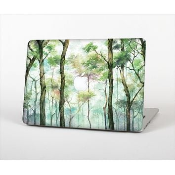 The Watercolor Glowing Sky Forrest Skin Set for the Apple MacBook Air 11""