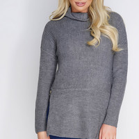 Lianne Knit Top - Grey