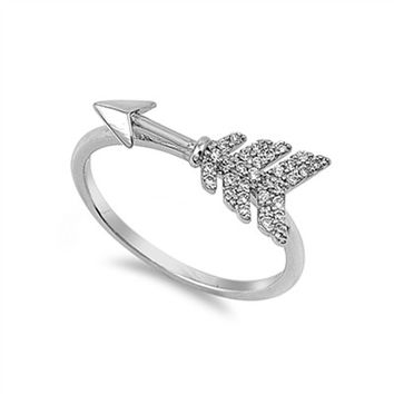 Sterling Silver Cupid's Arrow Ring