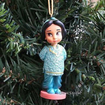 Licensed cool CUSTOM Disney Animators Princess Jasmine Toddler Aladdin Christmas Ornament PVC