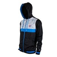 Oklahoma City Thunder Bugsy Full Zip Hoodie Sweatshirt - Navy Blue