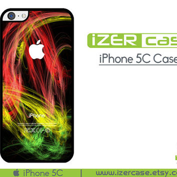 iPhone 5C Case iPhone 5C Cover iPhone 5C Rubber Case Rasta Reggae Colors Illusion