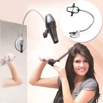 Hands Free Hair Dryer Holder Removable Sucker Dryer Holder