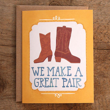 We Make a Great Pair Illustrated Card
