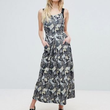 French Connection Lala Palm Print A-Line Maxi Dress at asos.com