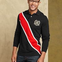 Tommy Hilfiger Shirt, Diagonal Pieced Rugby Shirt - Mens Polos - Macy's