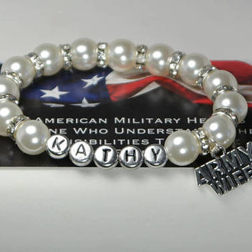 for army wife - military spouse - deployed soldier - army spouse - custom name - wife deployment - military deployment - military gifts