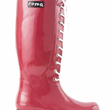 Opinca Rain Boot Claret Red by Roma Boots
