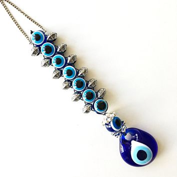 Evil eye wall hanging - evil eye beads - evil eye charm - Turkish evil eye