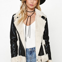 MinkPink City Of Angels Faux Leather Biker Jacket at PacSun.com