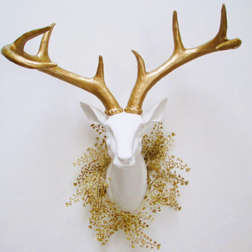 Holiday Deer Head, Deer Head, Stag Head, Christmas Decor, White Faux Deer Head, Faux Taxidermy, Deer Head Australia, Hodi Home Decor