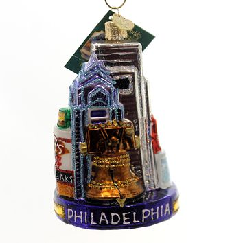 Old World Christmas PHILADELPHIA Glass City Brotherly Love 20092