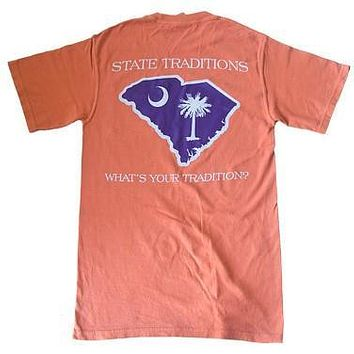 SC Clemson Gameday T-Shirt in Orange by State Traditions