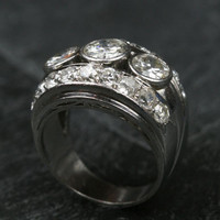 Vintage Platinum & Diamond Ring by Ruby Gray's | Ruby Gray's Antique & Vintage Rings