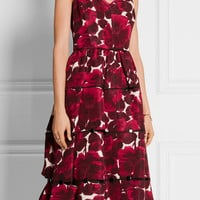 Marc Jacobs - Floral-print silk-faille midi dress