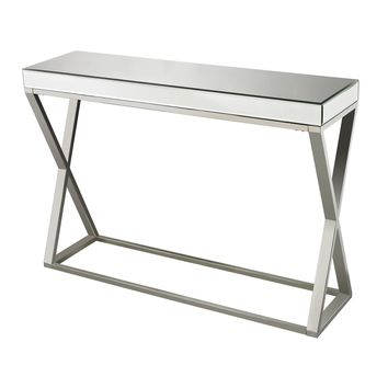 114-43 Klein-Mirror And Stainless Console Table