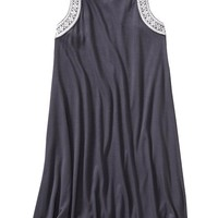 Old Navy Girls Embroidered Trim Swing Dresses