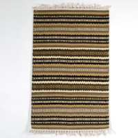 Striped Cotton Rug - Earth Tone