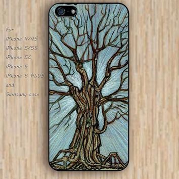 iPhone 5s 6 case cartoon tree case old tree Dream colorful phone case iphone case,ipod case,samsung galaxy case available plastic rubber case waterproof B487