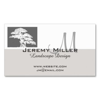 business card landscape design bonsai tree art
