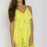 Sweet Summertime Dress in Lime