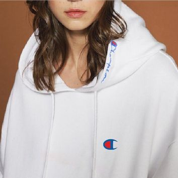 Champion Fashion Hooded Hedging Pullover Sweatshirt top