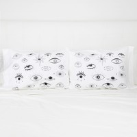 Illustrated Eyes Pillowcase Set