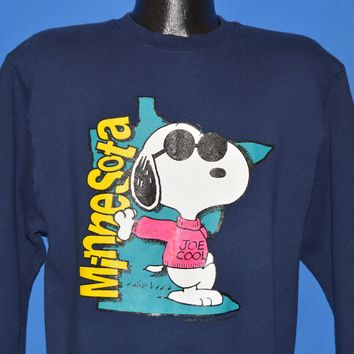 90s Snoopy Joe Cool Minnesota Sweatshirt Medium