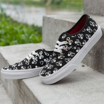 DCCKIJG Trendsetter VANS X Disney Mickey Mouse Canvas Old Skool Flats Sneakers Sport Shoes