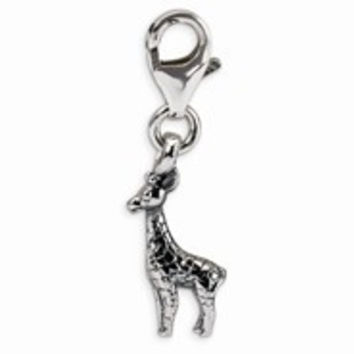 Sterling Silver Giraffe Click-on for Bead Charm