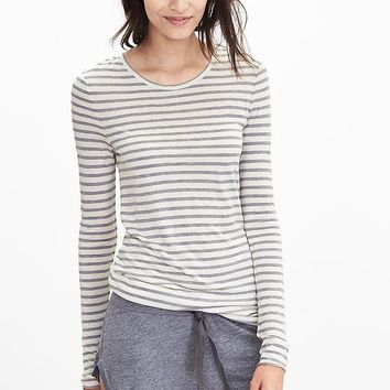 Banana Republic Womens Striped Lounge Crew