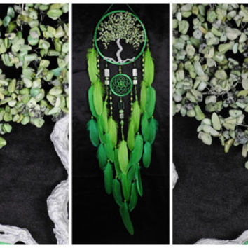 Green Dream Catcher Tree of life agate Dreamcatcher New Dream сatcher green agate dreamcatchers decor handmade unique gift Valentines Day