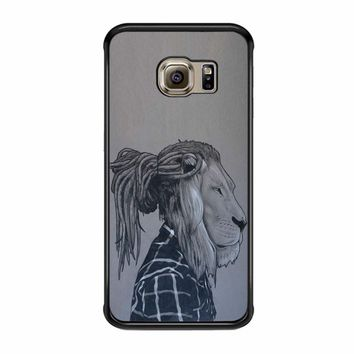 Rock Rasta Reggae Bob Marley Beads Dreadlock African Lion Samsung Galaxy S6 Edge Case